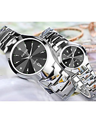 cheap -Men's Fashion Watch Quartz Silver Analog Black Silver