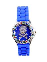 cheap -Women's Fashion Watch Quartz Silicone Band White Blue Pink