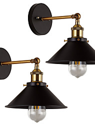 cheap -2 pcs Metal Wall Light Industrial Wall Sconces Vintage Edison Simplicity Lamp For Cafe Club Bar Lighting