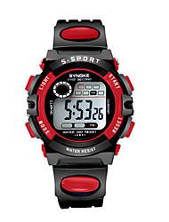 Недорогие -Муж. Модные часы Цифровой силиконовый Черный Цифровой Красный Синий Розовый