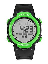 Недорогие -Муж. Жен. Спортивные часы электронные часы Цифровой силиконовый Черный 30 m Цифровой Красный Зеленый Синий