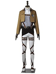 cheap -Inspired by Attack on Titan levi ackerman Anime Cosplay Costumes Japanese Cosplay Suits Solid Colored Long Sleeve Top Pants Apron For Men's Women's / Belt / More Accessories / T-shirt / Belt