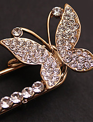 cheap -Brooches Butterfly Animal Ladies Party Casual Fashion Rhinestone Brooch Jewelry Gold Silver For Party Special Occasion Birthday Gift Daily