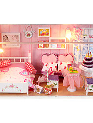 cheap -Dollhouse DIY Furniture Wooden Wood Unisex Toy Gift