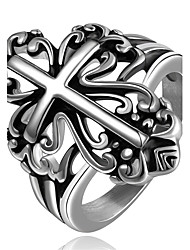 cheap -Men's Ring Silver Stainless Steel Copper Ladies Personalized Geometric Halloween Graduation Jewelry Crossover Cross Hypoallergenic Adorable