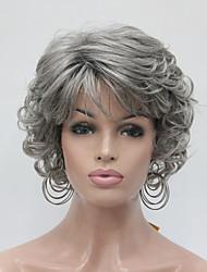 Недорогие -Искусственные волосы парики Кудрявый Без шапочки-основы Карнавальный парик Парик для Хэллоуина Парик из натуральных волос Короткие Серый