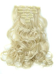 cheap -Hair Piece Wavy Classic Synthetic Hair Hair Extension Clip In Daily