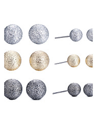 cheap -Women's Jewelry Set Frosted Ball Ball Ladies Natural Simple Style British Earrings Jewelry Gold For Gift Daily Casual Outdoor Office & Career Beach 12pcs