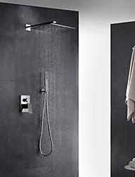 Недорогие -смеситель для душа - современный / арт-деко / ретро / современный хромированный клапан из латуни / с одной ручкой смеситель для душа с двумя отверстиями для ванны
