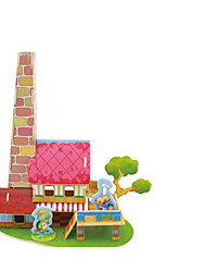 cheap -3D Puzzle Wooden Puzzle Model Building Kit Car House 3D Wooden 1 pcs Kid's Girls' Toy Gift
