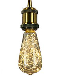 abordables -1pc 3 W Ampoules à Filament LED 300 lm E26 / E27 ST64 25 Perles LED LED Intégrée Décorative Étoilé Décoration de mariage de Noël Blanc Chaud 85-265 V