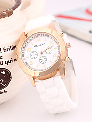 cheap -Women's Fashion Watch Quartz Silicone Band Casual White Blue Rose