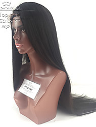 cheap -Human Hair Glueless Lace Front Lace Front Wig style Brazilian Hair Straight Wig 130% Density with Baby Hair Natural Hairline Women's Short Medium Length Long Human Hair Lace Wig