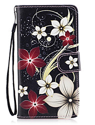 cheap -Case For Huawei Honor 7 / Huawei P9 Lite / Huawei Y560 Huawei P9 Lite / P8 Lite (2017) / Honor 8 Wallet / Card Holder / with Stand Full Body Cases Flower Hard PU Leather