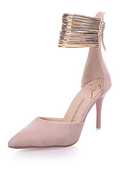 cheap -Women's Heels Stiletto Heel Pointed Toe Zipper Fleece / PU Club Shoes Spring / Summer Pink / Black / Party & Evening / Dress / 3-4 / Party & Evening