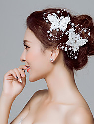 Недорогие -Кружево Цветы / Зажим для волос / Инструмент для волос с 1 Свадьба / Особые случаи / на открытом воздухе Заставка