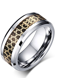 cheap -Men's Ring Assorted Color Stainless Steel Tungsten Steel Round Circle Geometric Personalized Basic Simple Style Party Anniversary Jewelry Magic