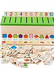 cheap -Educational Flash Card Educational Toy Math Toy Shape Sorter Toy 1 pcs compatible Legoing Classic Boys' Girls' Toy Gift / Kid's / Kids