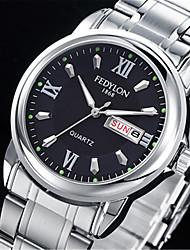 cheap -Men's Wrist Watch Quartz Silver 30 m Calendar / date / day / Analog Casual Fashion - White Black Blue
