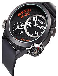 Недорогие -Муж. Спортивные часы Кварцевый силиконовый Черный 30 m Аналоговый Черный