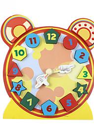 Недорогие -Конструкторы Игры с последовательностью Деревянные игрушки Обучающая игрушка Игрушки Часы Дерево Детские 1 Куски
