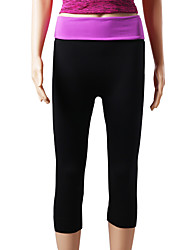 cheap -Women's Running Pants Track Pants Sports Pants Athletic 3/4 Tights Athleisure Wear Bottoms Elastane Yoga Camping / Hiking Exercise & Fitness Running Breathable Quick Dry Soft Sport Black Purple