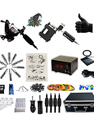 cheap -BaseKey Professional Tattoo Kit Tattoo Machine - 2 pcs Tattoo Machines, Professional Alloy 20 W LCD power supply 1 rotary machine liner & shader / 1 alloy machine liner & shader / Case Included