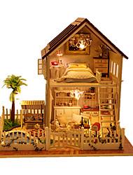 abordables -Maison de Poupées A Faire Soi-Même Meuble Maison En bois Unisexe Jouet Cadeau