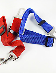 cheap -Dog Leash Hands Free Leash Car Seat Harness / Safety Harness Adjustable / Retractable Training For Car Safety Solid Colored Fabric Alloy Red Blue