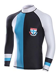 cheap -Dive&Sail Men's Wetsuit Top Top UV Sun Protection Breathable Anatomic Design Long Sleeve Diving Snorkeling Fashion Spring Summer / High Elasticity