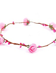 cheap -Foam Headbands / Flowers / Wreaths with 1 Wedding / Special Occasion / Outdoor Headpiece