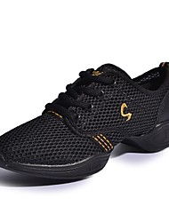 cheap -Women's Dance Shoes Dance Sneakers / Ballroom Shoes / Practice Trainning Dance Shoes Sneaker Low Heel Non Customizable Black / Gold / White / Fuchsia / Performance / EU43