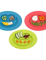 cheap -1Pcs  Premium Toddler Baby Kids Food Placemat One-Piece Silicone Divided Dish Bowl Plates