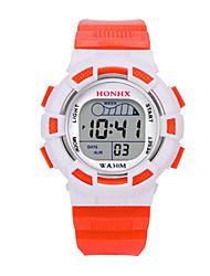 Недорогие -Жен. Спортивные часы электронные часы Цифровой силиконовый Синий / Красный / Оранжевый 30 m Цифровой Оранжевый Пурпурный Синий