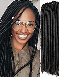 Недорогие -Волосы для кос Вязаные Гавана дредлоки Дреды / Faux Locs Kanekalon 24 корня / пакет косы волос Мягкость Расширения Dreadlock Искусственные дреды