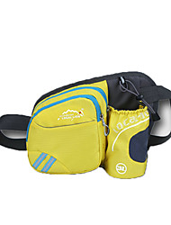 cheap -4 L Waist Bag / Waistpack Waterproof Wearable Shockproof Outdoor Blushing Pink LightBlue Yellow