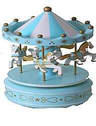 cheap -Music Box Carousel Merry Go Round Cute Lighting Plastic Kid's Girls' Toy Gift