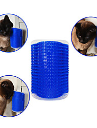 cheap -Cat Dog Brushes Plastic Comb Massage Pet Grooming Supplies Blue