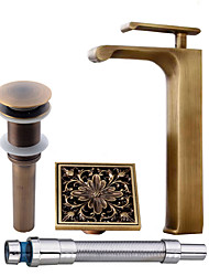 cheap -Faucet Set - Pre Rinse Waterfall Widespread Antique Copper Centerset Single Handle One Hole