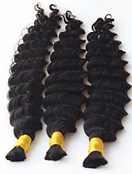 cheap -deep wave human braiding hair bulk no weft crochet braids with curly human hair for micro braids curly bulk braiding hair 3pcs