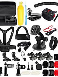 abordables -Accessoires Kit 50 en 1 Multifonction Pliable Pour Caméra d'action Gopro 6 Gopro 5 Xiaomi Camera Gopro 4 Gopro 3 Plongée Surf Ski Néoprène ABS / SJCAM / Mobile Android / SJ4000 / SJ5000 / SJ6000