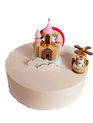 cheap -Jeancard Music Box Castle Carriage Classic Rotating Kid's Adults Kids Gift Unisex Boys' Girls' Gift