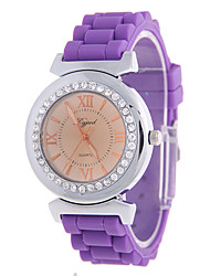 cheap -Women's Fashion Watch Quartz Silicone Band Casual Brown Purple Rose