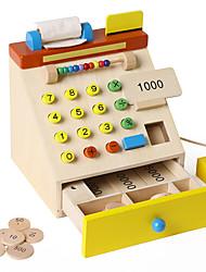 Недорогие -Бакалея Торговый Игры с деньгами Игрушка наличных денег деревянный Детские Игрушки Подарок 1 pcs