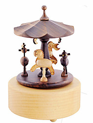 cheap -Music Box Toys Square Wood Pieces Unisex Gift
