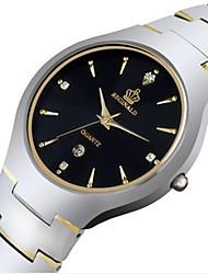 Недорогие -Муж. Спортивные часы Модные часы Кварцевый Серебристый металл 30 m Аналоговый Золотой Черный