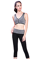 cheap -Women's Running Pants Sports Bra Top Yoga Running Exercise & Fitness Breathable Soft Comfortable Violet Blue Fruit Green Gray Solid Colored / Stretchy