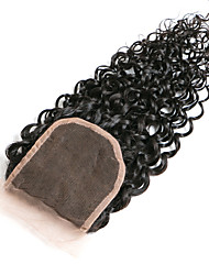 cheap -10inch braizlian kinky curly closure best virgin brazilian lace closure bleached knots closures free middle 3part closure