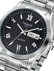 cheap -Men's Women's Fashion Watch Quartz Silver 30 m / Analog Casual - Black
