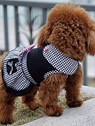 cheap -Dog Dress Winter Dog Clothes Black Costume Cotton Princess Classic Birthday Holiday S M L